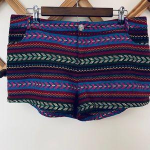 Bird Cage Aztec Print Multicolor Large Shorts